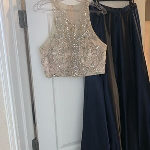 2 piece formal gown.
